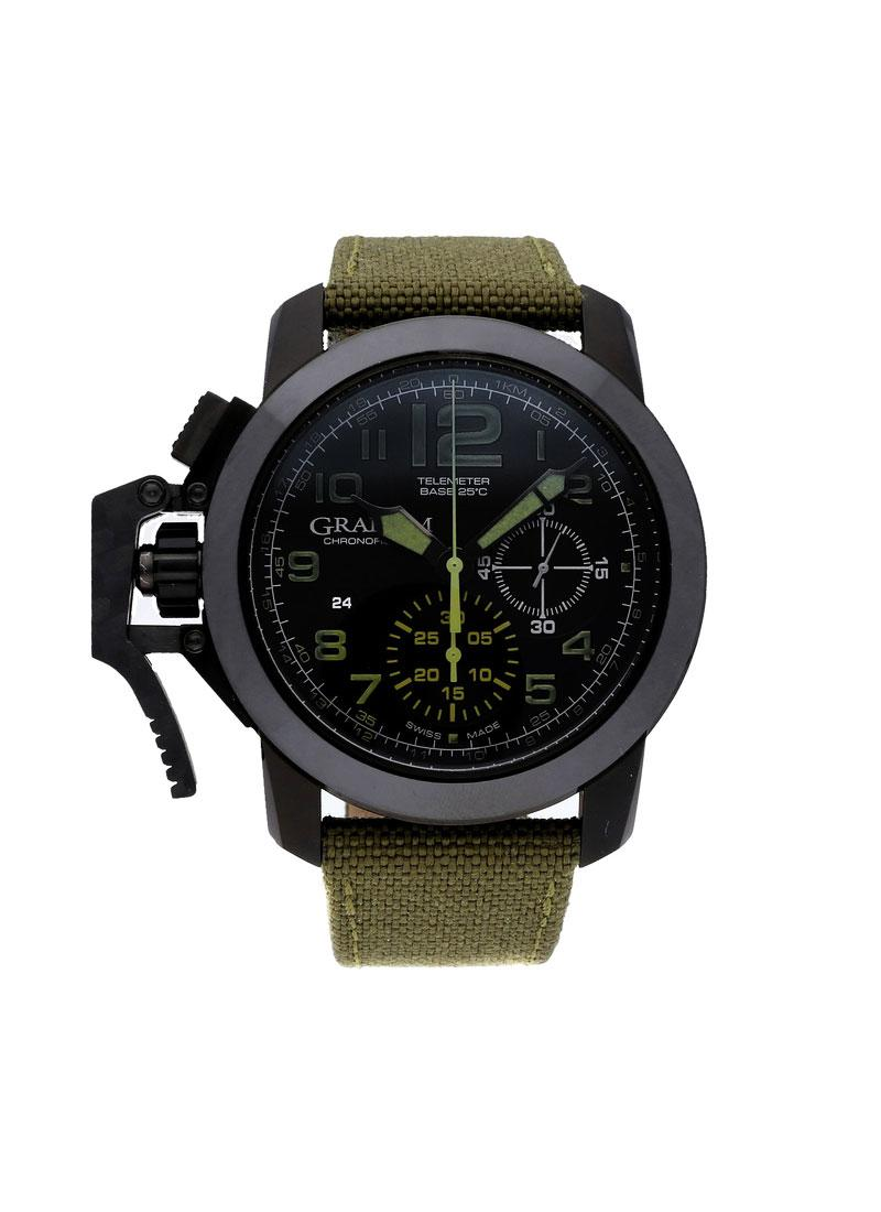 Graham Chronofighter Oversize Amazonia Green in Steel with Black Ceramic Bezel