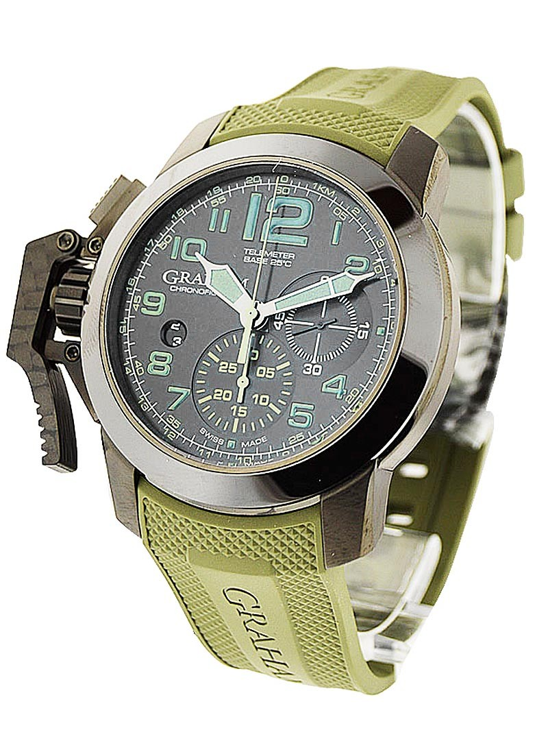Graham Chronofighter Oversize Amazonia Green in Steel