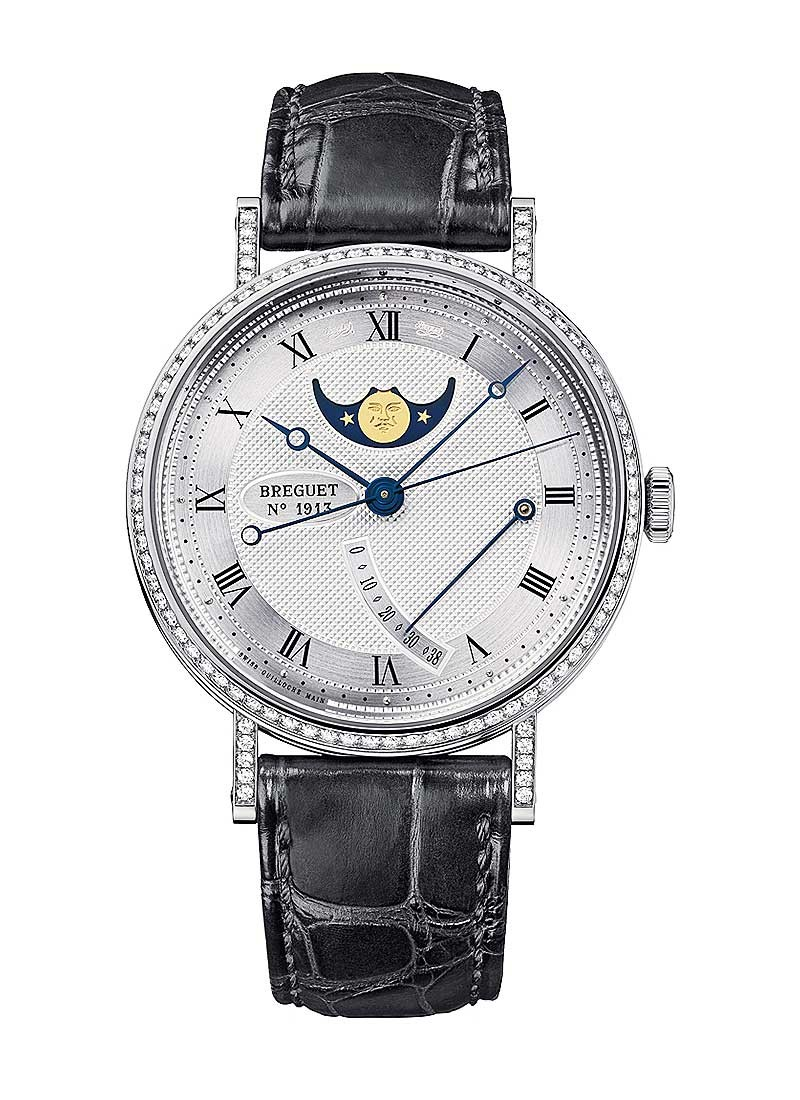 Breguet Classique Moon Phase de Lune in White Gold with Diamond Bezel