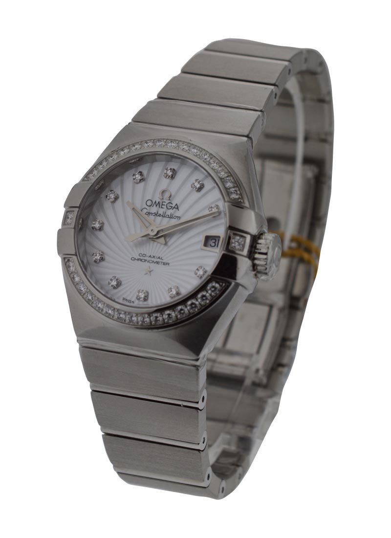 Omega Constellation Ladies in Steel with Diamond Bezel