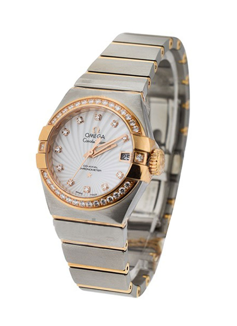 Omega Constellation Co-Axial Lady's in 2 Tone with Diamond Bezel