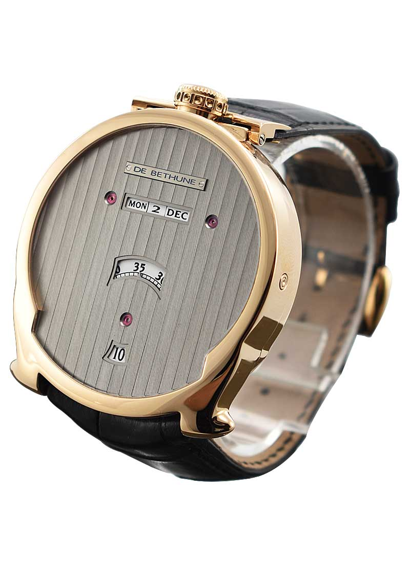 Debethune Digitale Series with Ball Moonphase on the Back in Rose Gold