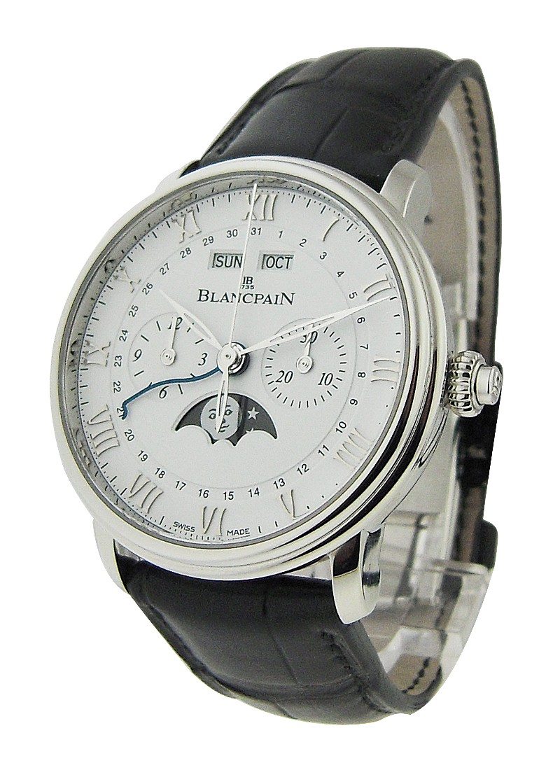 Blancpain Villeret Moon Phase Chronograph 40mm Automatic in Steel