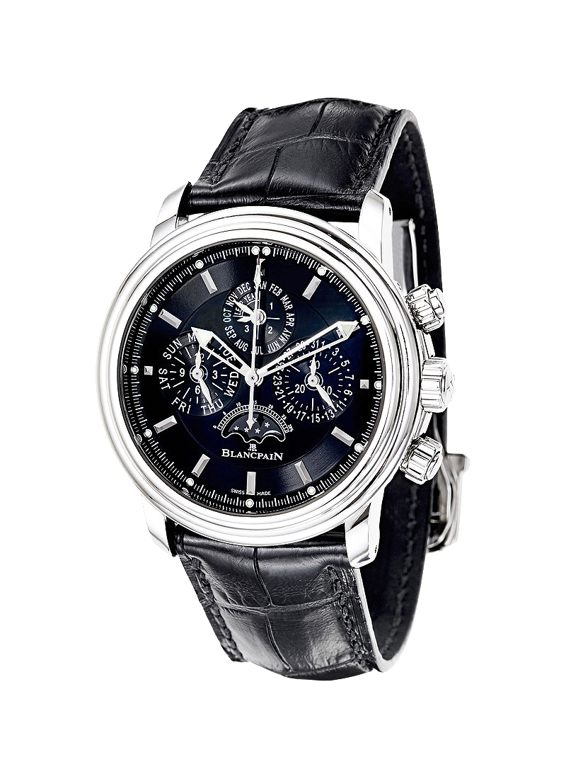 Blancpain Leman Flyback Perpetual Calendar Chronograph Automatic in Steel