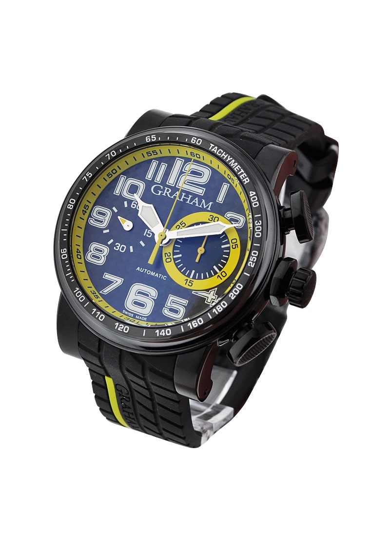 Graham Grand Silverstone Stowe Black Yellow Racing in Black PVD Steel