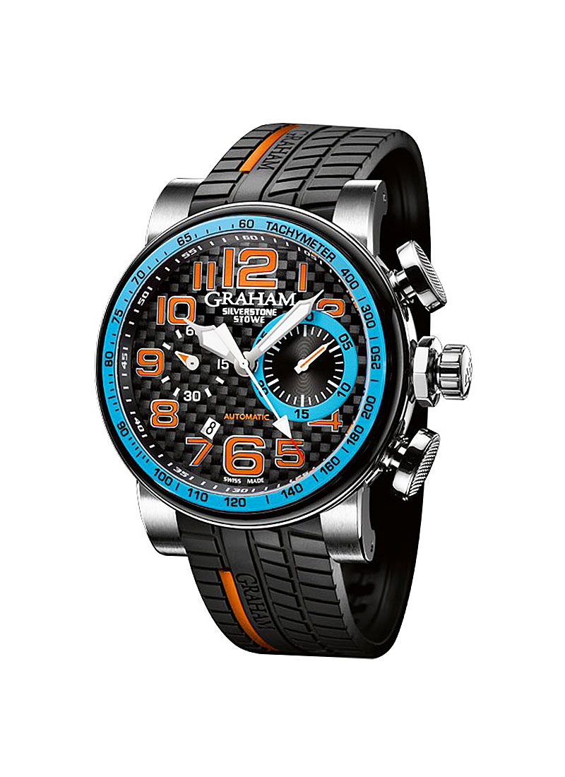 Graham Silverstone Stowe Racing Blue in Stainless Steel