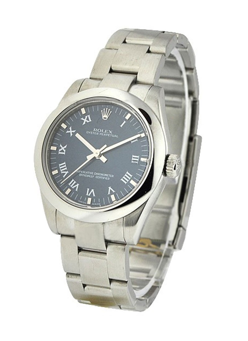Pre-Owned Rolex Mid Size - Oyster Perpetual - Steel with Domed Bezel
