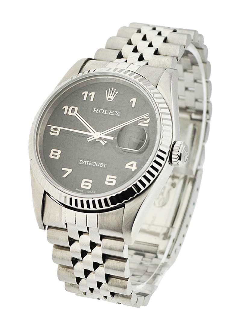 Rolex Used Datejust 36mm with White Gold Fluted Bezel