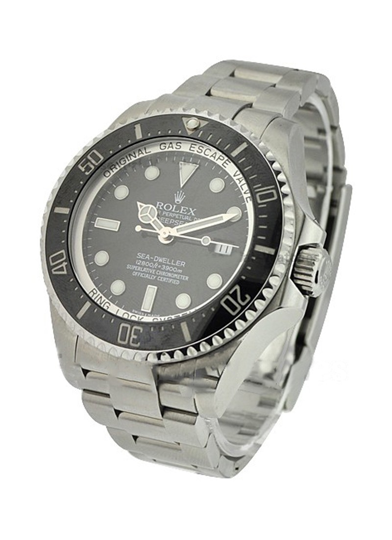 Pre-Owned Rolex Deep Sea  in Steel with Black Bezel
