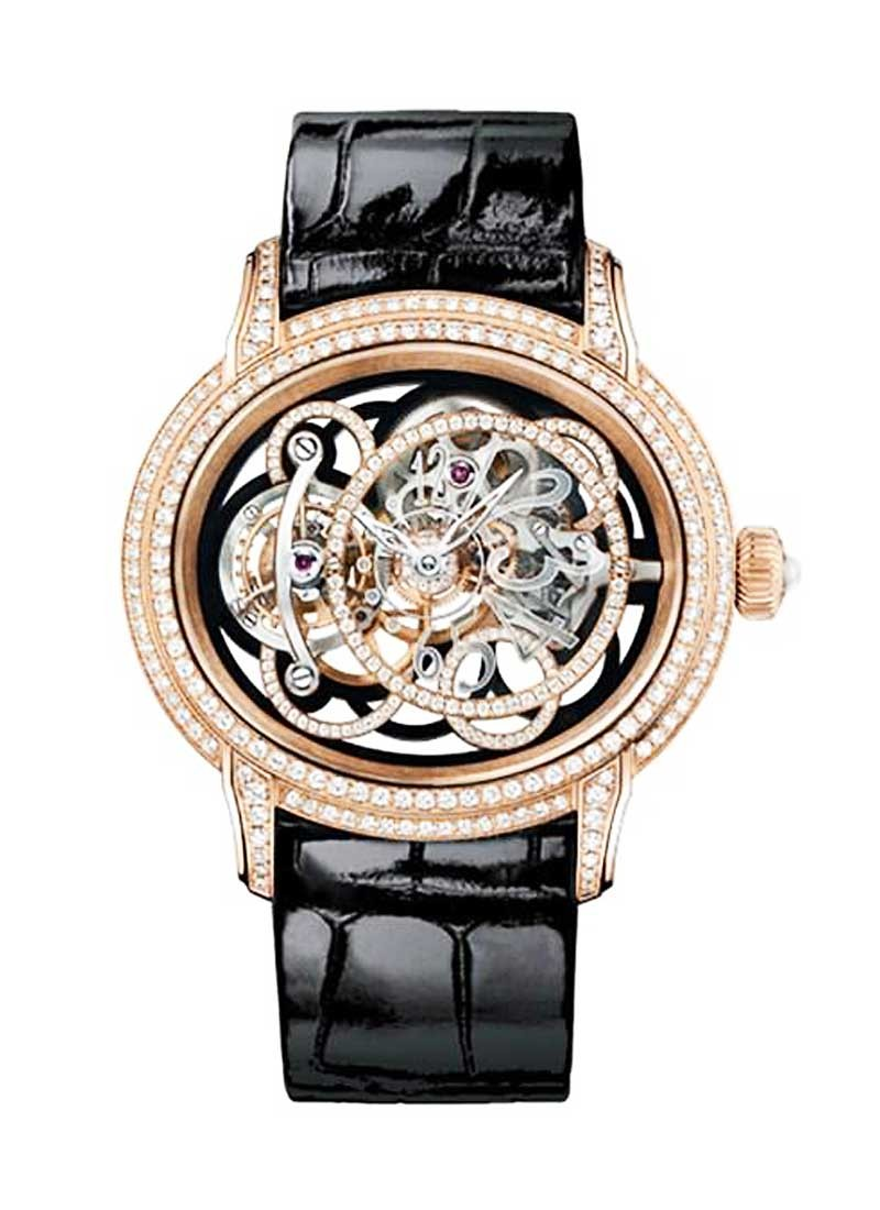Audemars Piguet Millenary Onyx in Rose Gold with Diamond Bezel