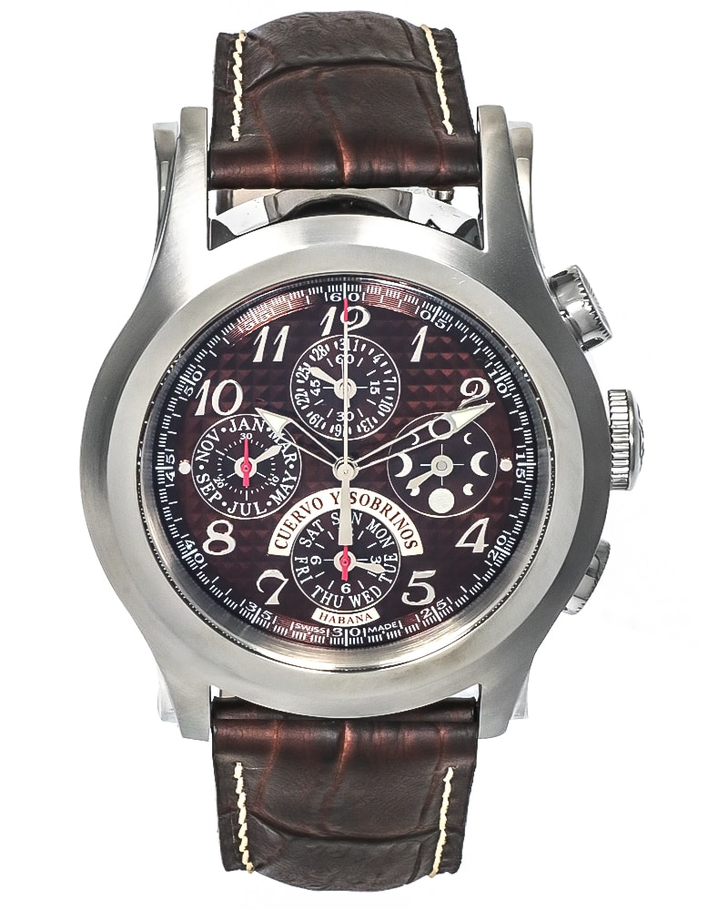 Cuervo Y Sobrinos Robusto Chronograph Men's Automatic in Steel