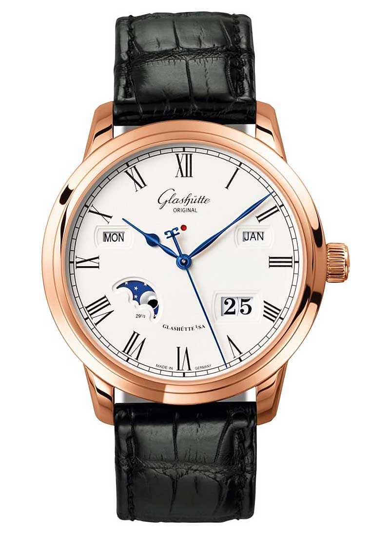 Glashutte Senator Perpetual Calendar in Rose Gold
