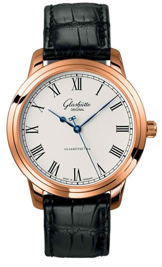 Glashutte Senator Automatic in Rose Gold