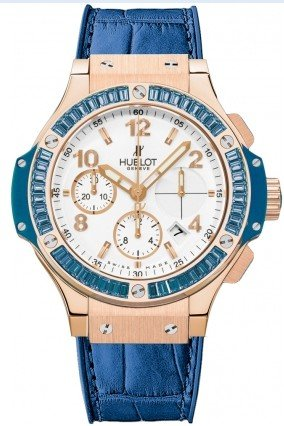 Hublot Big Bang Tutti Frutti Blue in Rose Gold with Baguette Topaz Bezel