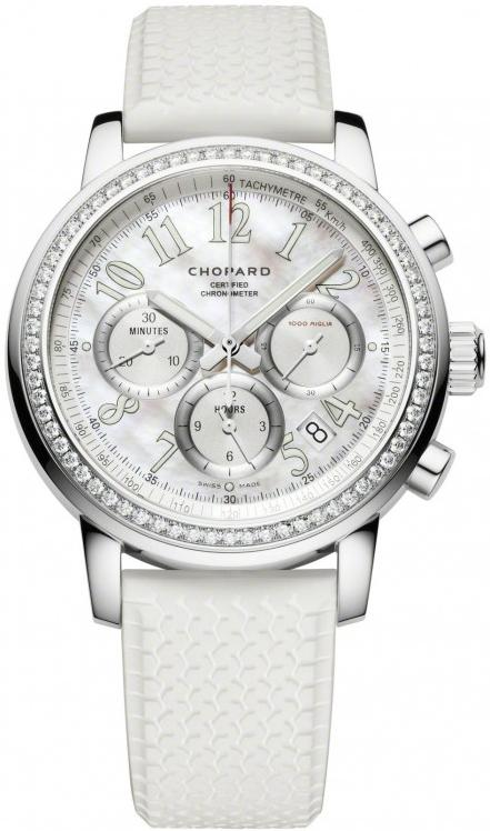 Chopard Millie Miglia Ladies Chronograph in Steel with Diamond Bezel