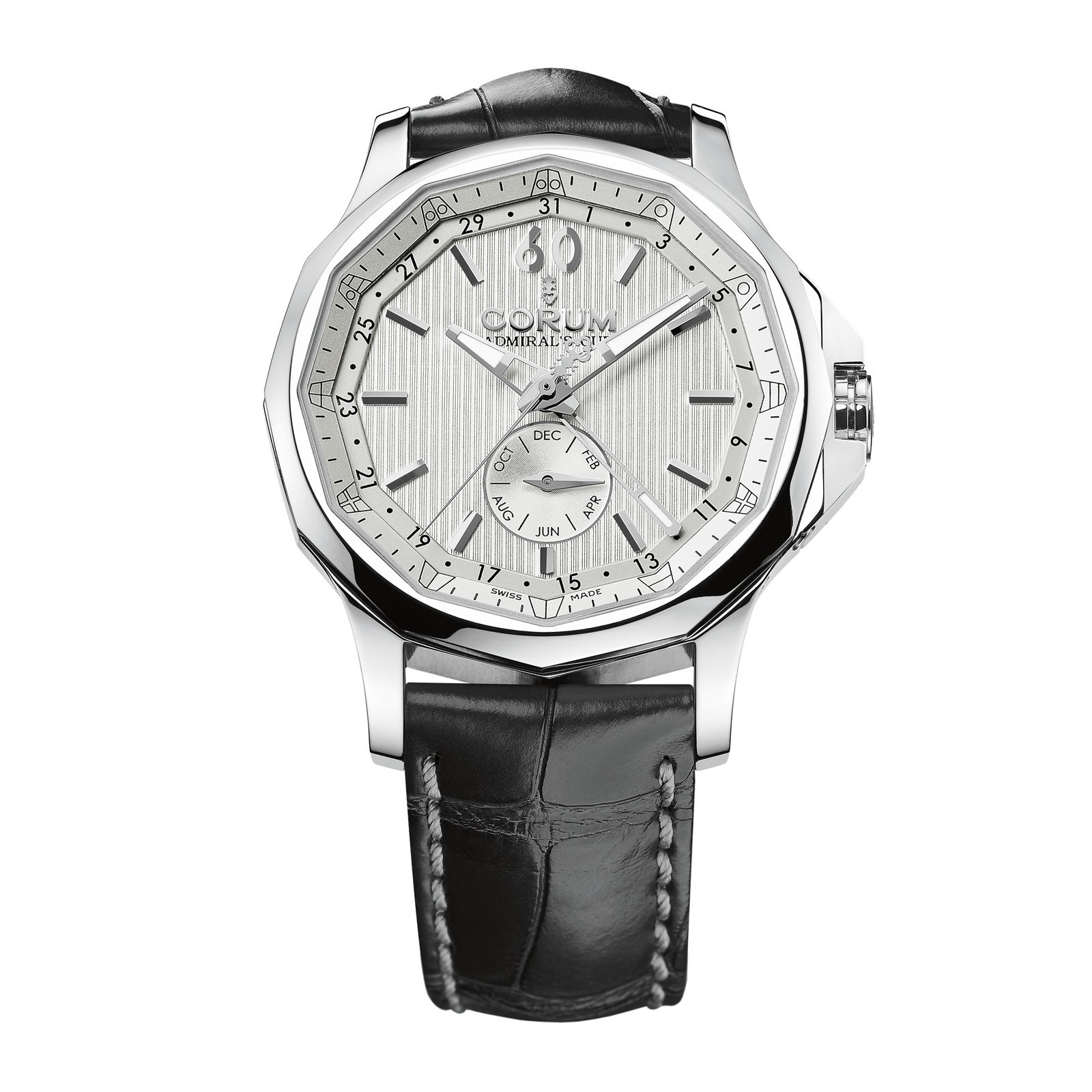 Corum Admirals Cup Legend 42 Annual Calendar in Steel