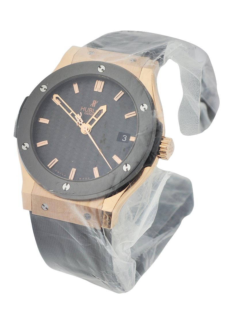 Hublot Classic Fusion 45mm Automatic in Rose Gold with Ceramic Bezel