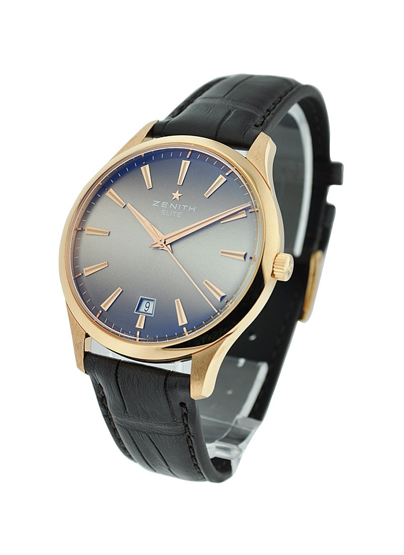 Zenith Elite Captain Central Second Automatic in Rose Gold