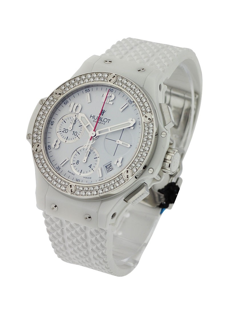 Hublot Big Bang Aspen White Ceramic with Diamond Bezel