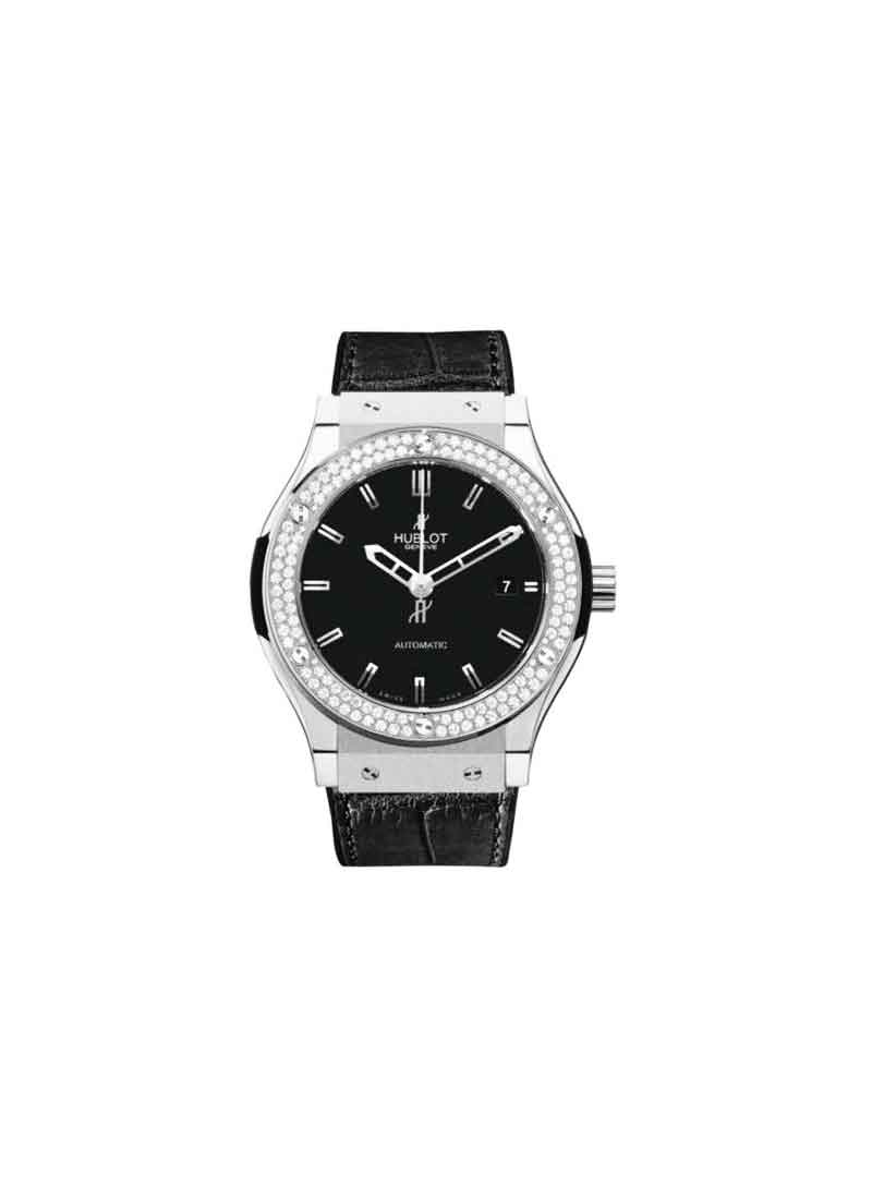 Hublot Classic Fusion 45mm with Zirconium & Steel with Diamond Bezel