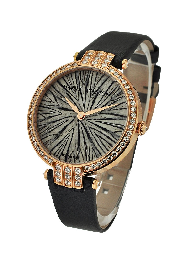 Harry Winston Premier Feathers Rose Gold with Diamond Bezel