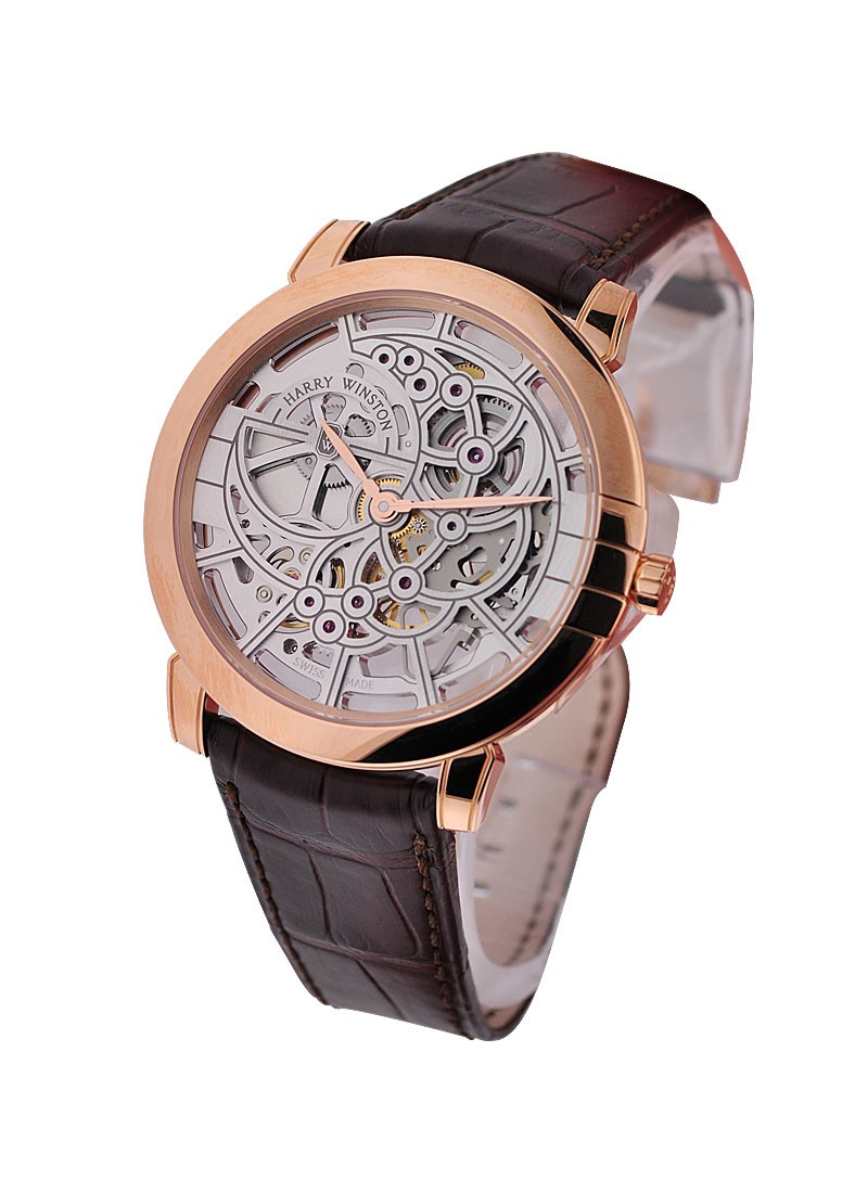 Harry Winston Midnight Skeleton in Rose Gold