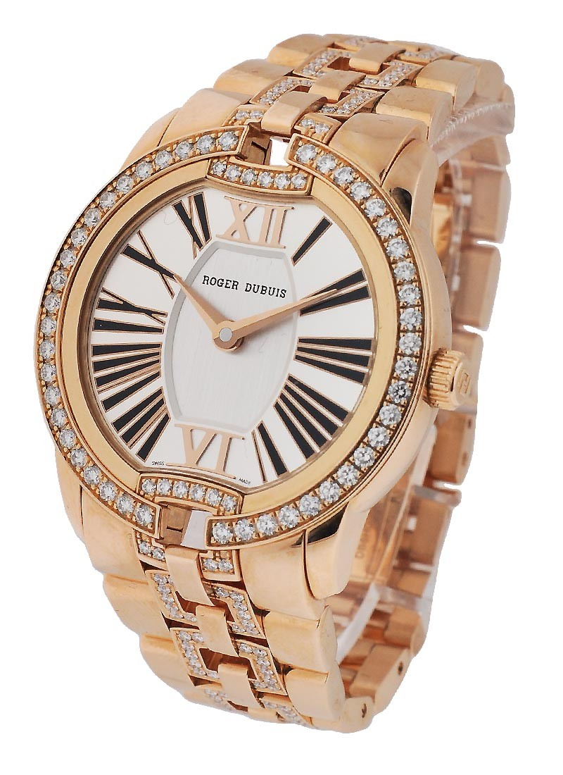 Roger Dubuis Velvet Automatic 36mm in Rose Gold with Diamond Bezel