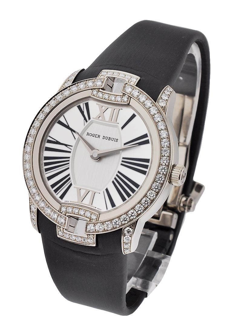 Roger Dubuis Velvet Automatic 36mm in White Gold with Diamond Bezel