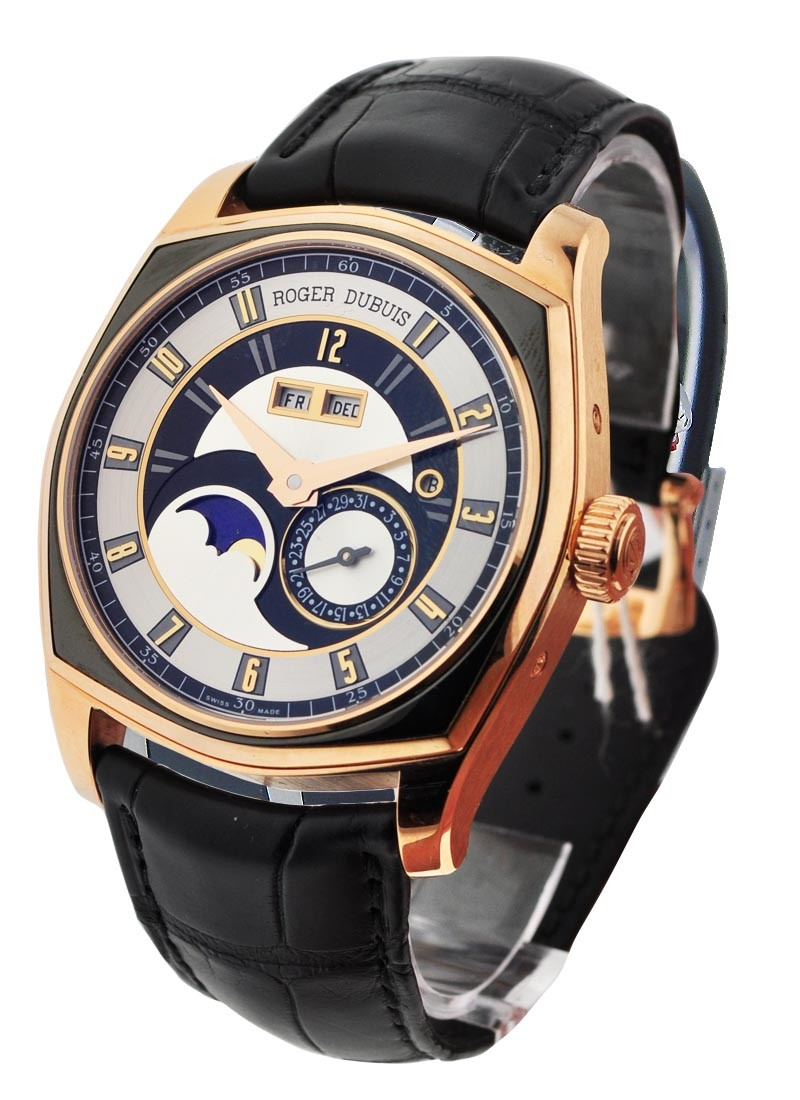 Roger Dubuis La Monegasque Perpetual Calendar in Rose Gold with Titanium Bezel