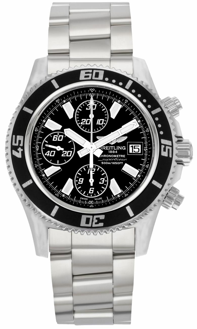 Breitling Superocean Chronograph II in Steel with Black Bezel