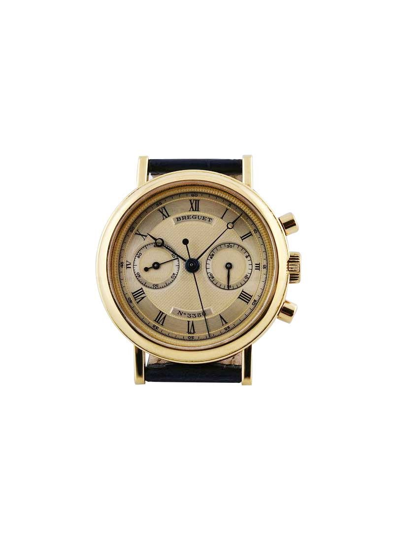 Breguet Classique Chronograph Ref 3237  Manual in Yellow Gold