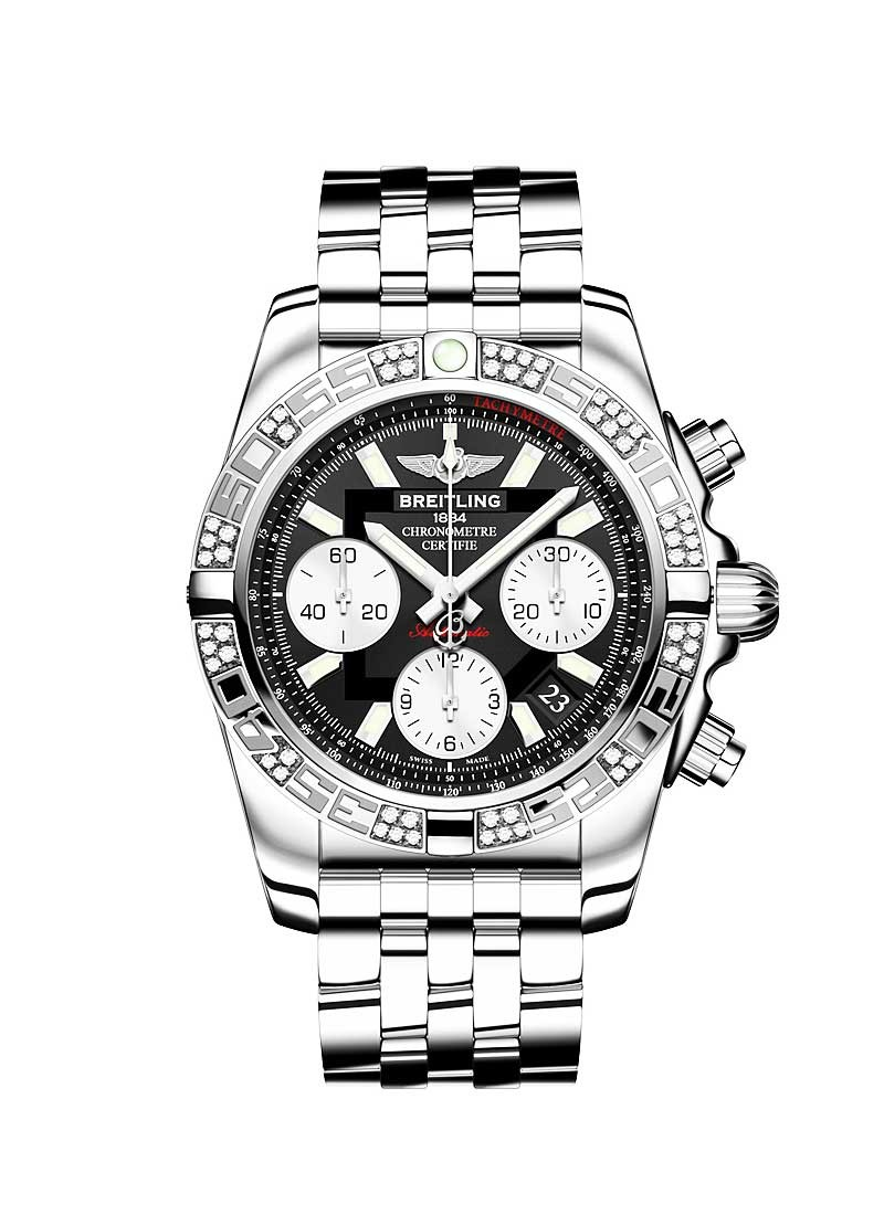 Breitling Chronomat Evolution 41 Chronograph in Steel with Diamonds