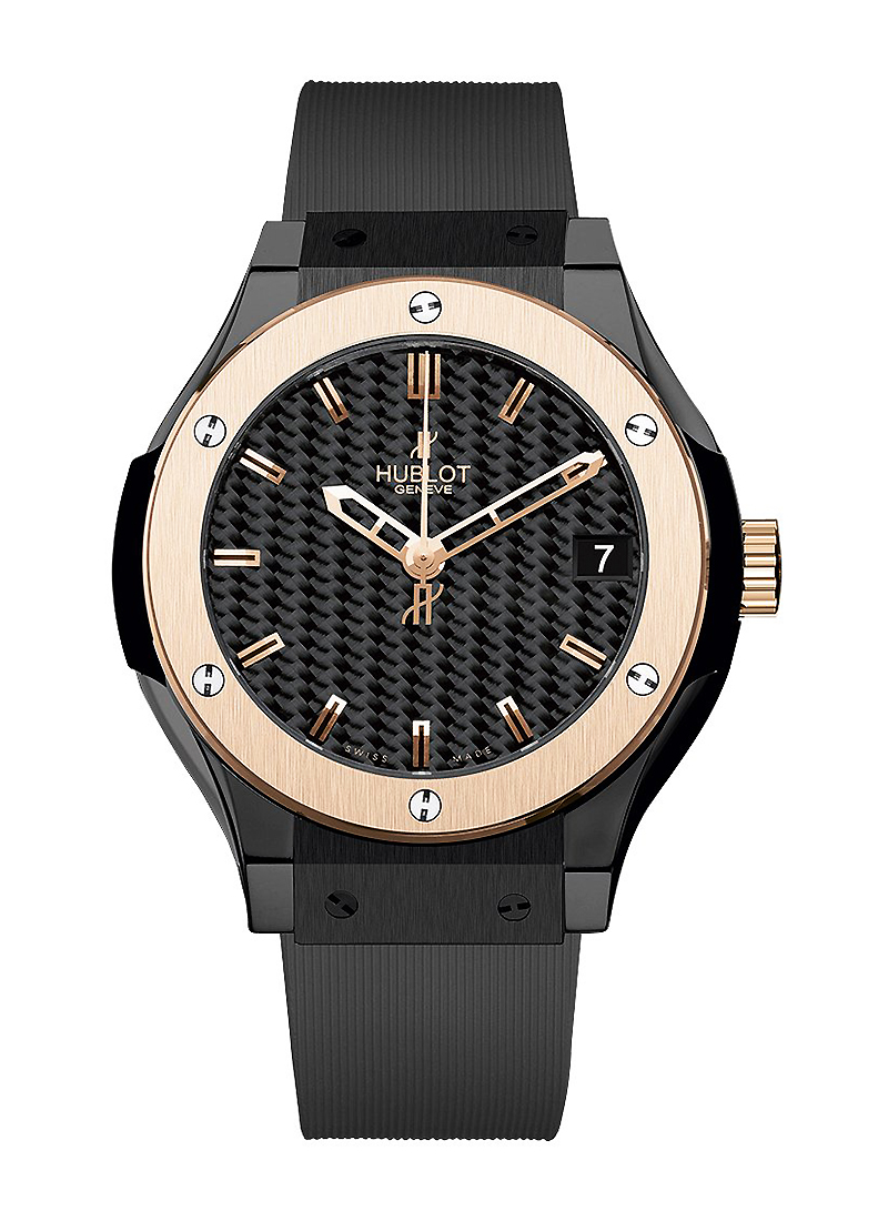 Hublot Classic Fusion 33mm in Rose Gold with Ceramic Bezel