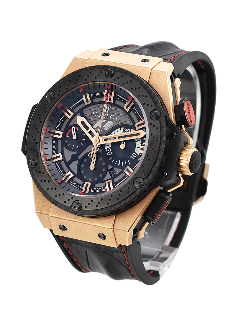 Hublot King Power 48mm F1 Great Britain in Rose Gold with Black Ceramic Bezel