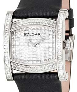 43af971c9b3 Assioma - Baguette in White Gold with Diamond Bezel on Black Strap with  Pave Baguette Diamond