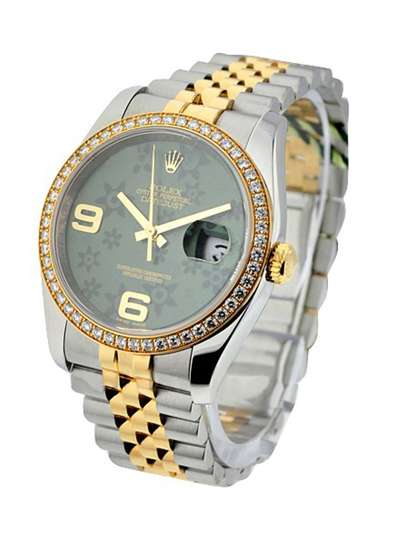Pre-Owned Rolex 2-Tone Datejust 36mm with Diamond Bezel