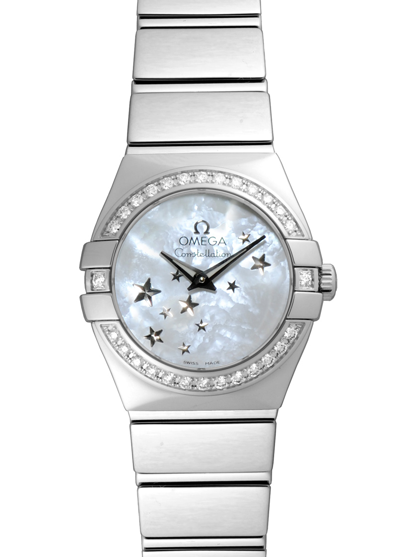 Omega Constellation Quartz 24 mm in Steel with Diamond Bezel