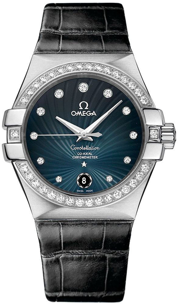 Omega Constellation Chronometer in Steel with with Diamond Bezel