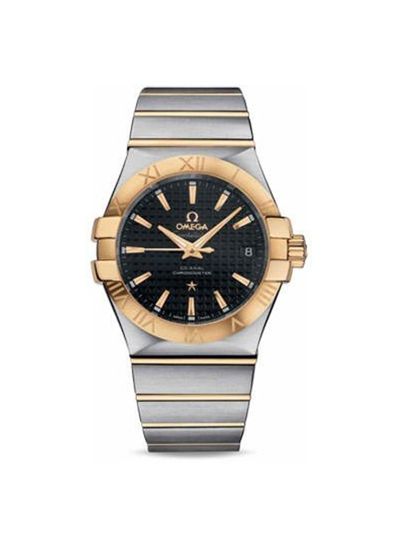 Omega Constellation Co- Axial in Steel with Yellow Gold Bezel