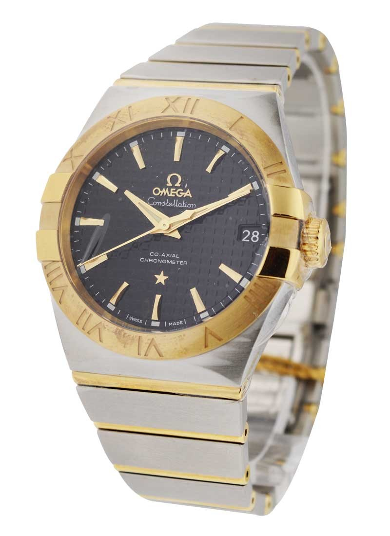 Omega Constellation  in Steel with Yellow Gold Bezel