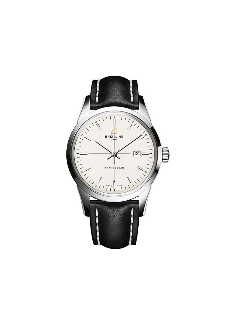 Breitling Transocean Day-Date Series 43mm Automatic in Steel