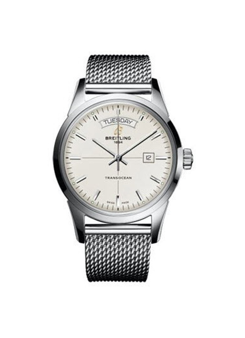 Breitling Transocean Day-Date Series with Automatic in Steel