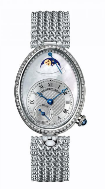 Breguet Queen of Naples Power Reserve in White Gold with Diamond Bezel