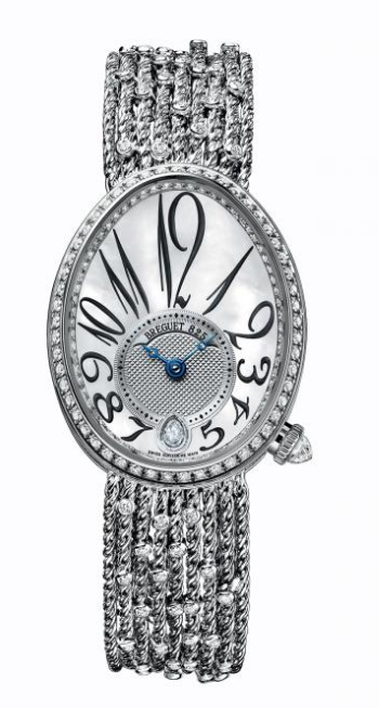 Breguet Queen of Naples in White Gold with Diamonds Bezel