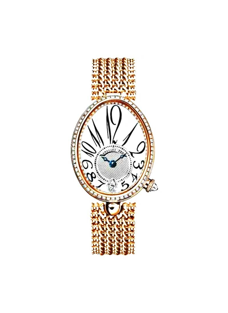 Breguet Reine de Naples in Rose Gold with Diamonds Bezel