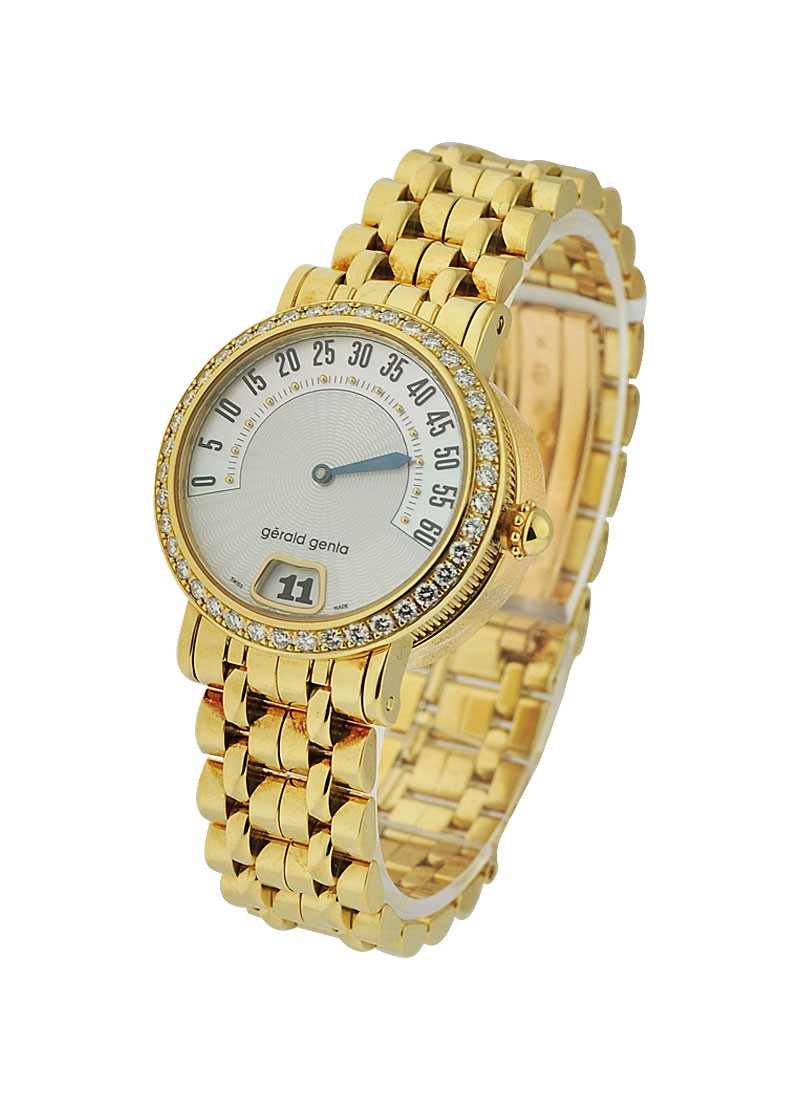 Gerald Genta Arena RetroWomens Contemporary with Diamond Bezel