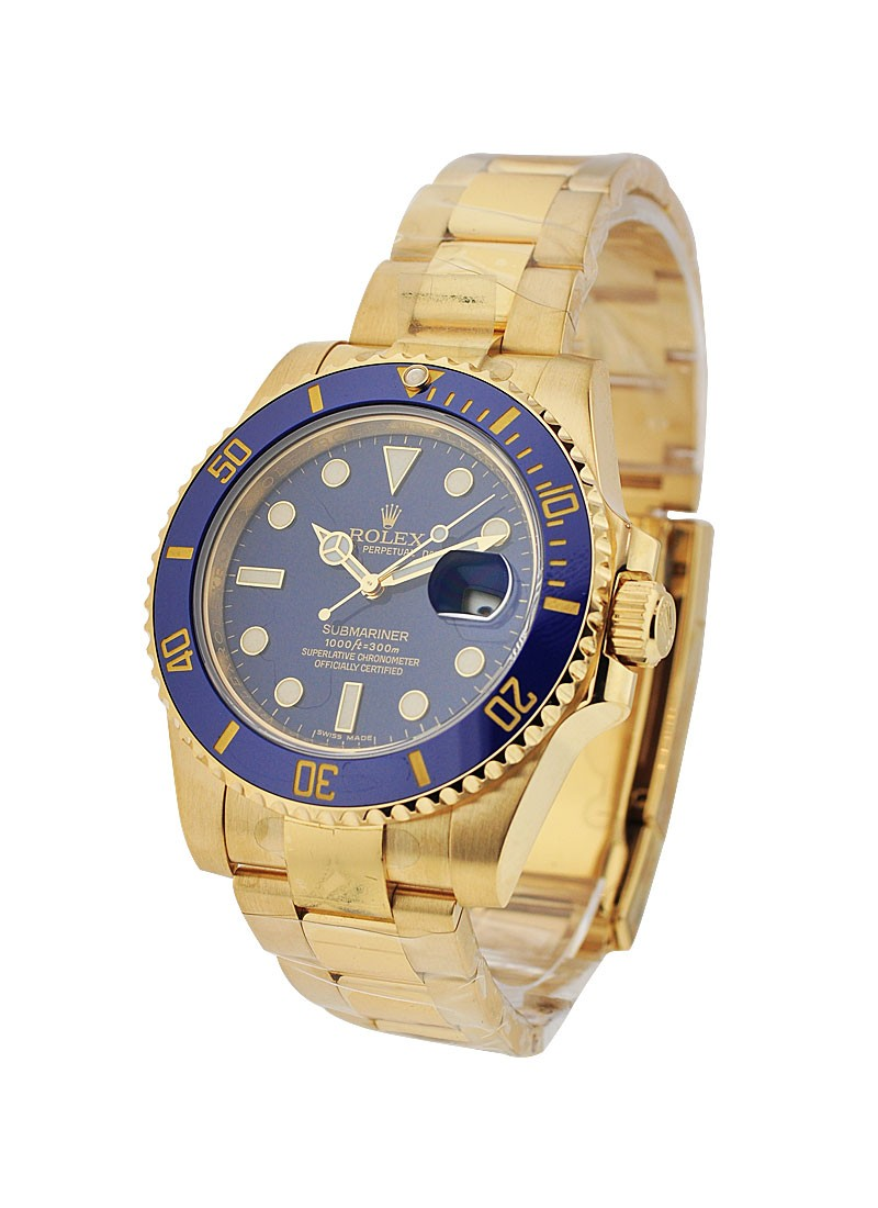 Rolex Used Submariner Yellow Gold with Ceramic Bezel 116618