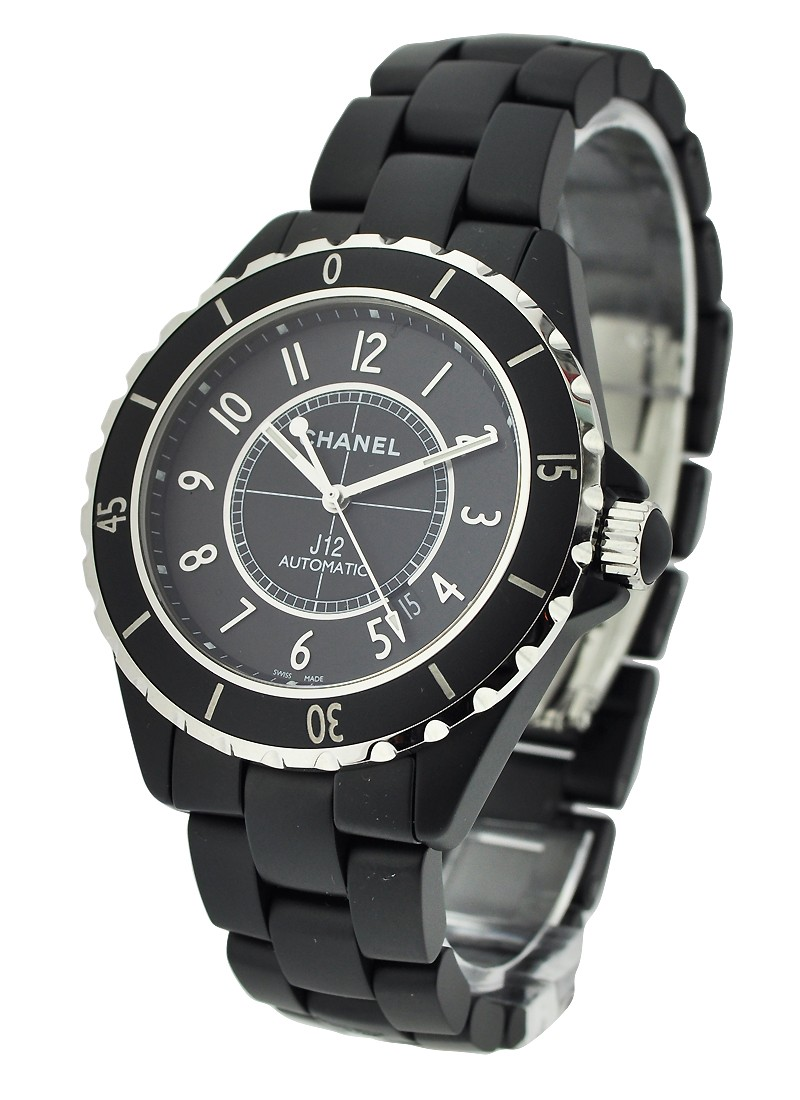 Chanel J12 42mm Matte Black Automatic in Black Ceramic