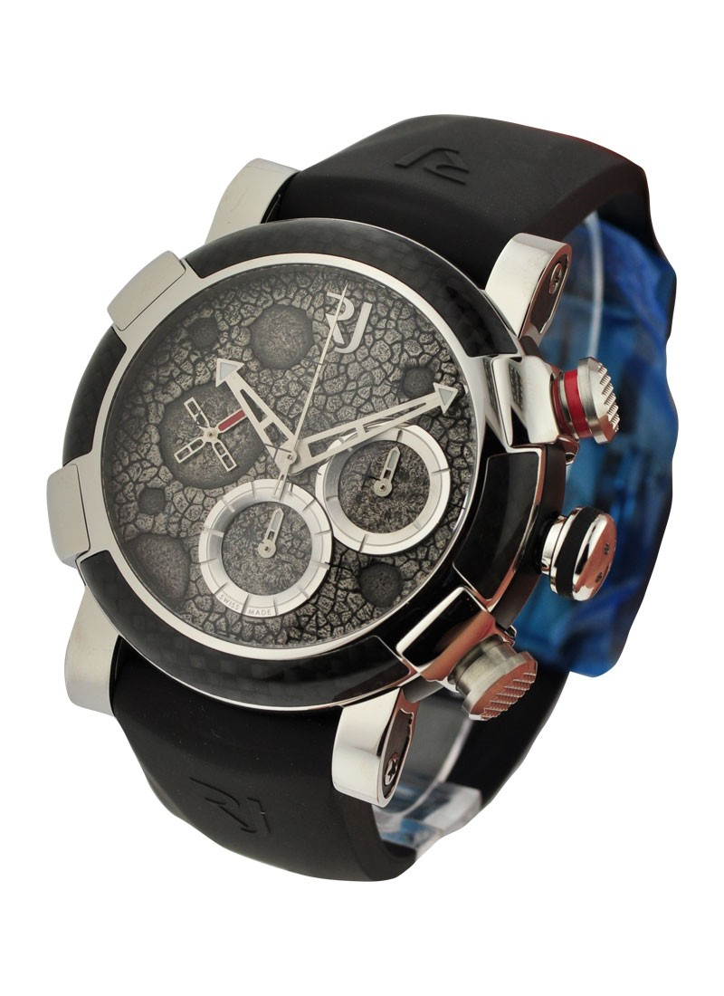 Romain Jerome Moon Dust DNA Chronograph in High Polished Steel with Carbon Bezel
