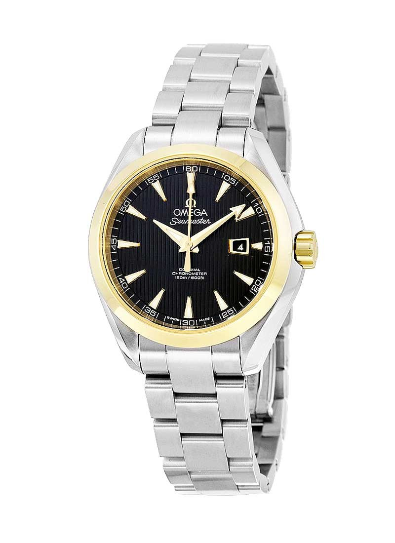 Omega Aqua Terra 34mm Automatic in Steel with Yellow Gold Bezel